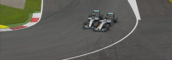 Austrian GP: Hamilton wins after last-lap Rosberg clash